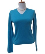 VGUC - TSE SAY Heather Blue 100% Cashmere V-Neck Long Sleeve Sweater  Si... - $29.69