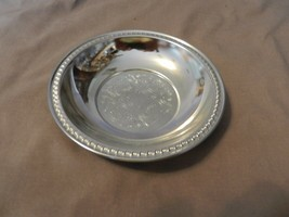 Vintage Silverplated Irwinware Small Serving Bowl, Engraved Design (M) - $18.55