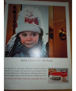 Campbell's Soup Little Girl In Winter Coat and Snow Print Magazine Ad 1965 - $9.99