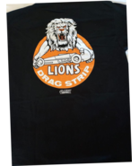 OLD VTG Lion's Drag Strip with the Lion's Head on a (L) large black tee s - $24.00
