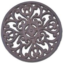 "Decorative Round Cast Iron Trivet Ornate Heart Design Kitchen Hot Pad 7""... - $12.99"