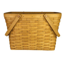 1999 Longaberger Large Market Basket Double Swing Handles 11x15x9 Rectangle - $69.25