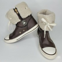 CONVERSE Kids Chuck Taylor All Star Sheep Fur Brown High Top Shoes Unise... - $59.99