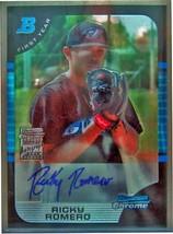2005 Bowman Chrome Schizzi #177 Ricky Romero Au B Rc - $19.48