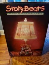 NIB Lithophane Lampshade, Resin Base Lamp Story Teddy Bears Night Light ... - £38.48 GBP