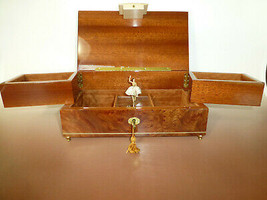 Vintage Swiss Reuge Dancing Ballerina Musical Jewelry Box Automaton (See... - $985.05