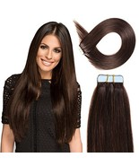 Tape in Hair Extensions Human Hair 20 inch 50g/pack 20pcs Seamless Skin ... - $58.10+