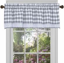 Achim Home Furnishings BCVL14GY12 , Grey & White Buffalo Check Window Curtain Va - $30.23