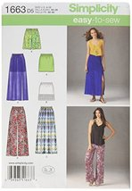 Simplicity 1663 Misses' Easy to Sew Skirts and Pants D5 (4-6-8-10-12) - $6.63