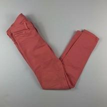 J BRAND Skinny Leg Jeans Coral Pink Capri Women Stretch Sz 23 Ankle - $32.99