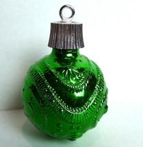 Avon Christmas Decanter Round Green Ball Ornament 1967 - $13.81