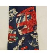 Volvo Necktie Tie Mens 100% Silk Advertising Blue Red Rig Truck Parts De... - $20.77
