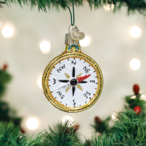 Old World Christmas Compass Navigation Glass Christmas Ornament 36226 - $10.88