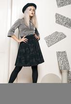 80s vintage pleated velvet skirt - $40.11