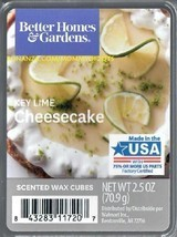 Key Lime Cheesecake Better Homes and Gardens Scented Wax Cubes Tarts Melts - $3.50