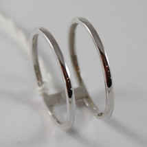 SOLID 18K WHITE GOLD BAND DOUBLE MULTI WIRES RING LUMINOUS SMOOTH, MADE IN ITALY image 2