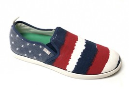 Sanuk Mens Range Funk America Red White & Blue Casual Slip On Loafer Shoe Us 9 - $39.99
