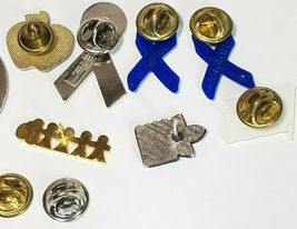 8 Vintage Lapel Pins Daffy Duck Teachers Apple Blue Ribbons And More See Photos image 5