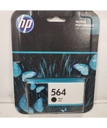 NEW HP 564 Black Ink Cartridge In Retail Box Exp 03/2018 FREE WORLD SHIP... - $9.95