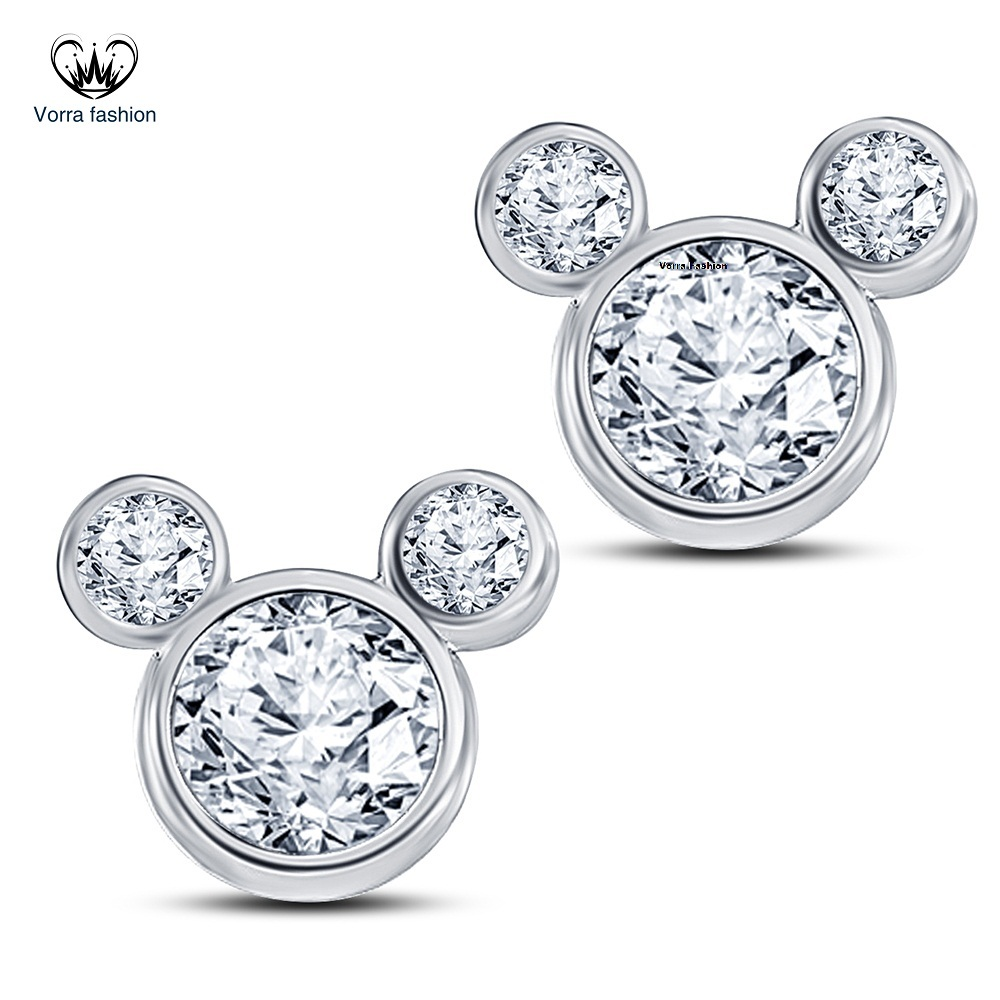 Primary image for Women's Swirl Stud Earrings Diamond White Gold Plated Pure 925 Sterling Silver