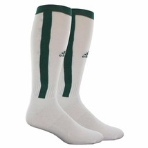 Adidas 2 Pack Sock White Forest Green Climalite Rivalry Baseball size Large 9-13 - $6.39