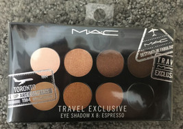 MAC Travel Exclusive Eye Shadow X 8 : Espresso. Never Opened. New & Sealed. - $63.00