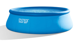 Intex 18ft X 48in Easy Set Pool with Filter Pump, Ladder, Ground Cloth & Cover image 1