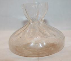 Art Glass Sea of Sweden Glasbruk Scandinavian Handmade Flower Vase Clear... - $36.66