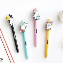 Moomin Gel Pen 4EA Lot 0.4mm Jelly Pen Study Planner Diary Scrapbook Pho... - $15.83