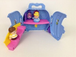 Fisher Price Disney Little People Cinderella Prince Magic Carriage Carry Case - $17.77