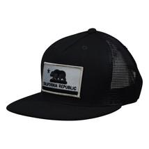 California Republic Hat - Black Trucker Hat by LET'S BE IRIE - £15.43 GBP