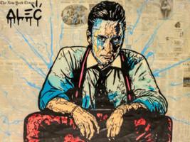 Alec Monopoly Oil Painting on Canvas graffiti art Decor ,Black Tie 24×32... - $35.63