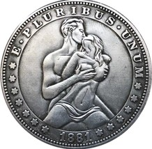 New Hobo Nickel 1881 US Morgan Dollar Kinky Love Making Sex Passion Casted Coin - $11.99