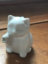Gently Used Small White Kitty Cat Shaped Stoneware Creamer Pitcher – 2.7... - $8.59