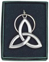 Trinity Knot Key Ring Keychain New in Box Silver Tone Irish - $12.60