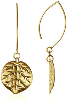 Cristina V. 24K Gold-Plated Long Leaf Dangle Earrings NWT