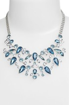 Givenchy Silver-Tone and Blue Stone Bib Necklace  NWT $225 - $163.50