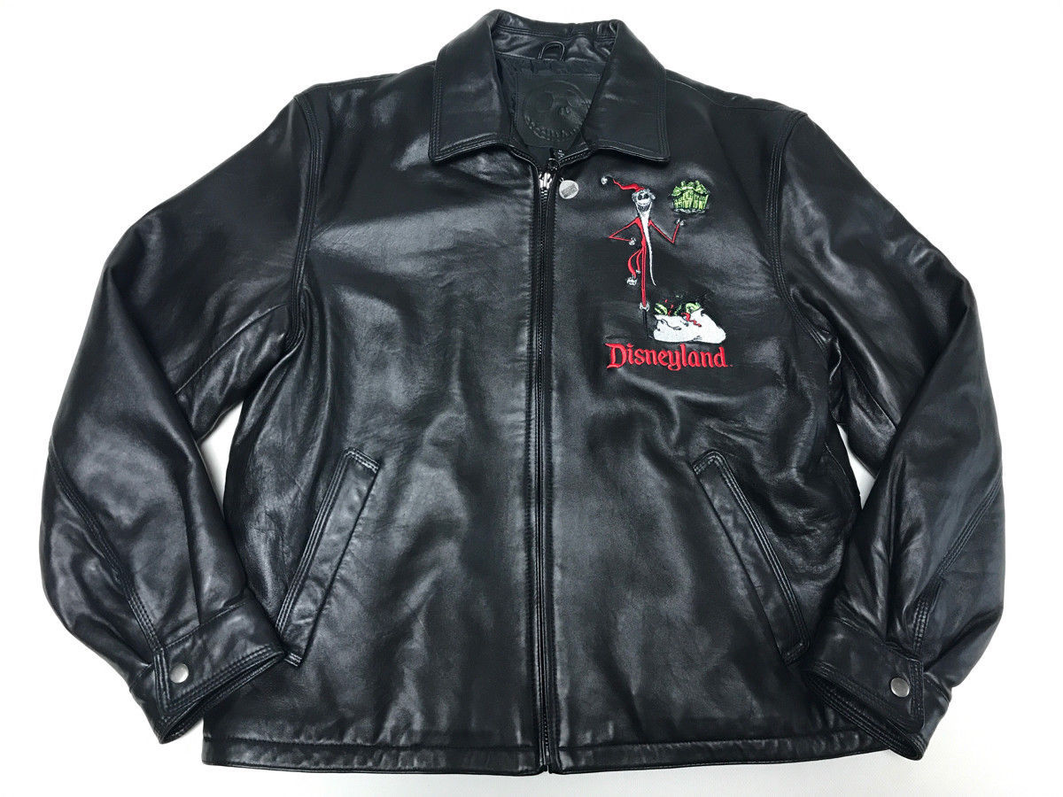 57. 57. Previous. Nightmare Before Christmas Haunted Mansion Holiday Limited Leather Jacket M size