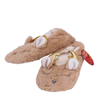 Women's 3 Pack Sherpa Lined Soft Christmas Holiday Reindeer Slippers Socks Shoes image 10