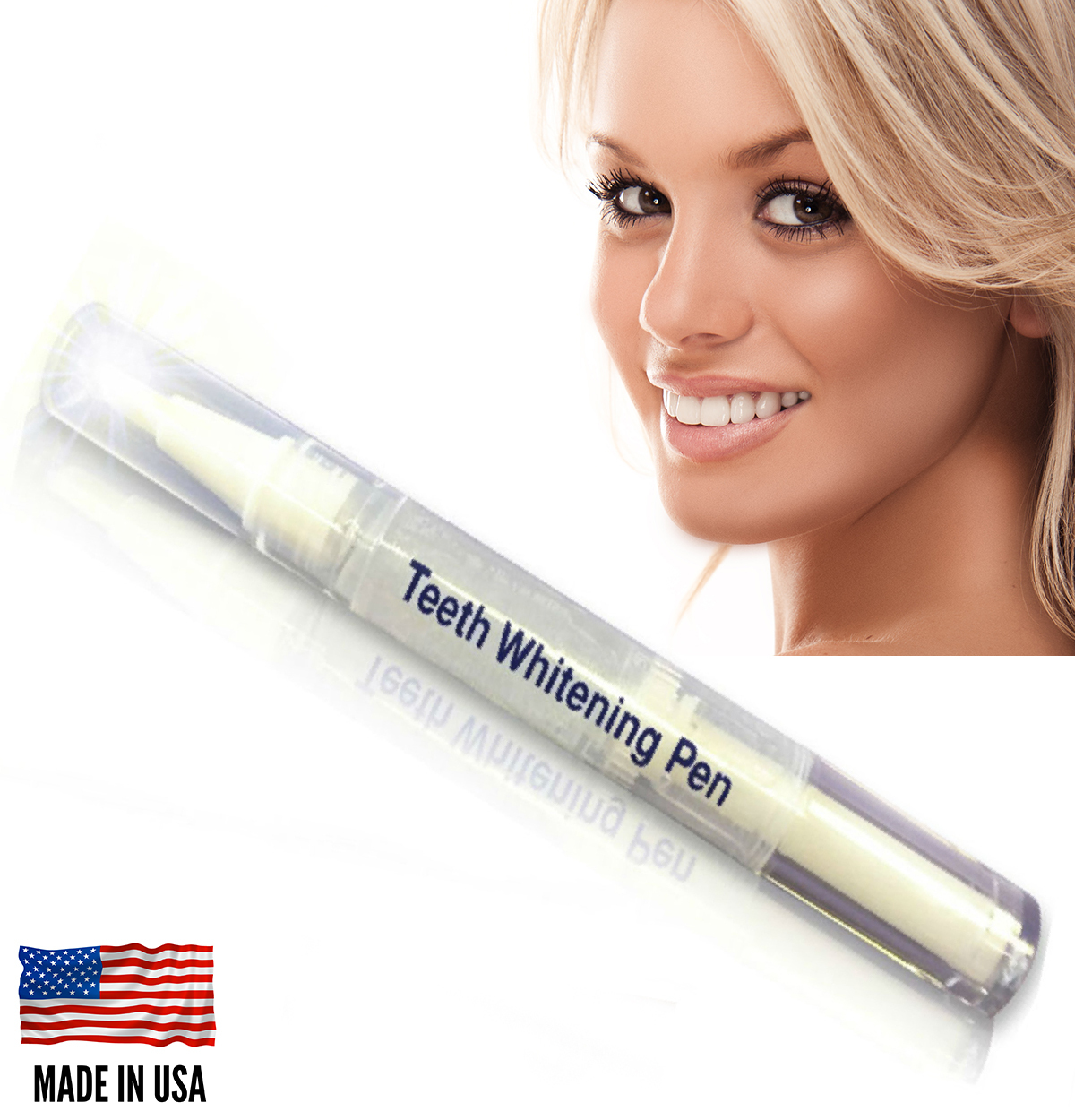 Primary image for Super Teeth Whitening Pen Touch-up System At Home Kit Tooth Bleaching - USA Made