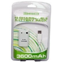 XBox 360 Compatible 3600mAh Rechargeable Controller Battery & USB Cable - $49.74