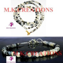 """Natural dendrite opal 3-4mm Beads Beaded 34"""" Necklace 7"""" Bracelet Jewelry Set - $40.57"""