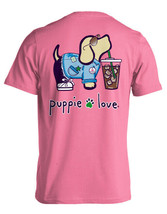 New PUPPIE LOVE Iced Coffee Pup T SHIRT - $22.76+