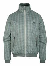 Bench UK Mens Gray Plaid Gaze Zip Up Winter Jacket with Fleece Lining NWT image 1