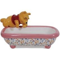 Walt Disney Winnie the Pooh Figure In Bathtub Ceramic Soap Dish NEW BOXED #19650 - $24.14