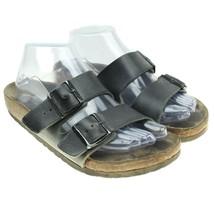 Women's Birkenstock Arizona Black Hard Footbed Sandal 240 Sz 37 Adjustab... - $19.75