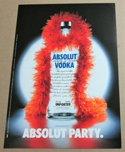 ABSOLUT PARTY Australian Large-Size Vodka Magazine Ad © 2000 - $9.99