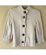 BANANA REPUBLIC Tan 3/4 SLEEVE Cardigan Sweater womens XS - $19.55