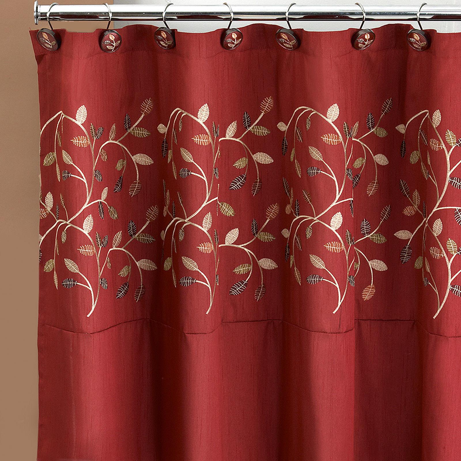 "Popular Bath Aubury Burgundy Collection - 70"" x 72"" Bathroom Shower Curtain"