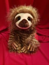 "NEW 10"" Aurora Brown Sloth Stuffed Like Real Fur Animal Plush Toy FREE S... - $41.16"